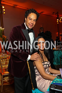 David Sutphen and Tina D'Souza. Alvin Ailey Gala. The Kennedy Center. February 2, 2010. photos by Tony Powell