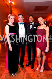 Marion Fischer and Scott Nolan with Ailey dancers Abdur-Rahim Jackson and Olivia Bowman Jackson. Alvin Ailey Gala. The Kennedy Center. February 2, 2010. photos by Tony Powell