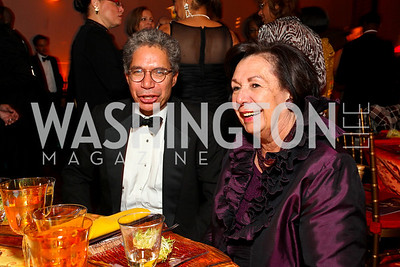 Alvin Ailey Dance Foundation President Henry McGee and Ann Jordan. Alvin Ailey Gala. The Kennedy Center. February 2, 2010. photos by Tony Powell