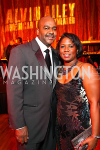 Georgetown University basketball coach John Thompson III and Monica Thompson. Alvin Ailey Gala. The Kennedy Center. February 2, 2010. photos by Tony Powell