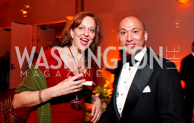 Julie Hudman and John Tinpe. Alvin Ailey Gala. The Kennedy Center. February 2, 2010. photos by Tony Powell