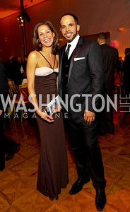 Ellen Chube and David Washington. Alvin Ailey Gala. The Kennedy Center. February 2, 2010. photos by Tony Powell