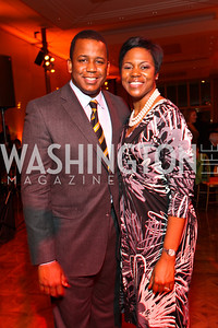 Rep. Kendrick Meek and Leslie Meek. Alvin Ailey Gala. The Kennedy Center. February 2, 2010. photos by Tony Powell