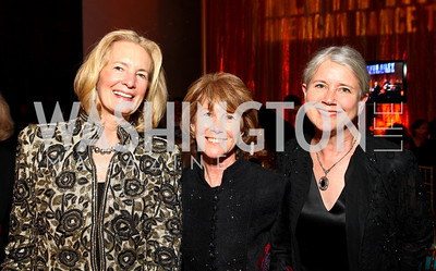 Carolyn Brody, Carol Ludwig, Christie Weiner. Alvin Ailey Gala. The Kennedy Center. February 2, 2010. photos by Tony Powell