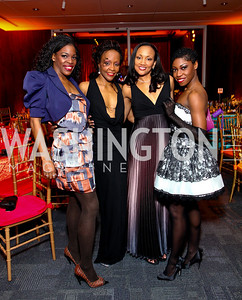 Ailey dancers Briana Reed, Renee Robinson, Linda-Denise Fisher-Harrell, Khilea Douglass. Alvin Ailey Gala. The Kennedy Center. February 2, 2010. photos by Tony Powell