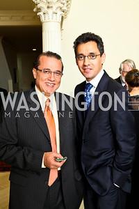 Photo by Tony Powell. Abdo Sabban, Masud Akbar. Amb. Jawad Farewell. Mahmood residence. October 18, 2010