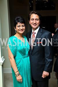 Photo by Tony Powell. Shamim and Afghanistan Amb. Said Jawad. Amb. Jawad Farewell. Mahmood residence. October 18, 2010
