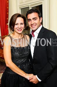 Photo by Tony Powell. Natalia and Antonio Monteiro. Amb. Jawad Farewell. Mahmood residence. October 18, 2010