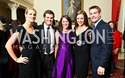 Photo by Tony Powell. Kat Conlon, Avery Ash, Emily Hagel, Heidi Schaler, John Leonard. Amb. Jawad Farewell. Mahmood residence. October 18, 2010
