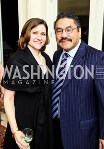 Photo by Tony Powell. Paula and Robert Hisaoka. Amb. Jawad Farewell. Mahmood residence. October 18, 2010