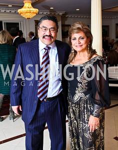 Photo by Tony Powell. Robert Hisaoka, Annie Totah. Amb. Jawad Farewell. Mahmood residence. October 18, 2010