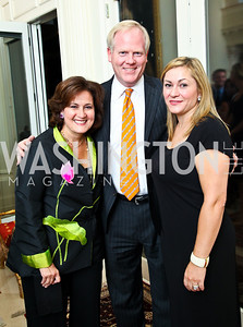 Photo by Tony Powell. Anita and Tim McBride, Cidalia Akbar. Amb. Jawad Farewell. Mahmood residence. October 18, 2010