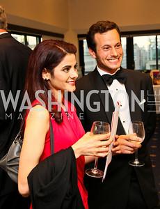 Photo by Tony Powell. American Cancer Society's Frank Sinatra Night. Press Club. June 12, 2010. Sara Nayeem, Moshe Mosbacher