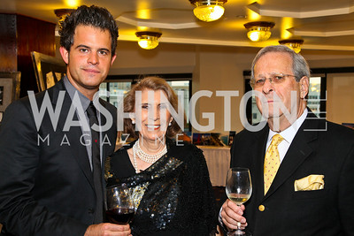 Photo by Tony Powell. American Cancer Society's Frank Sinatra Night. Press Club. June 12, 2010. Charles Agron, Aida and Edward Marks