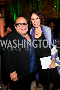 Photo by Tony Powell. Danny Devito and Rhea Perlman. Angels in Adoption Gala. Reagan Building. October 6, 2010