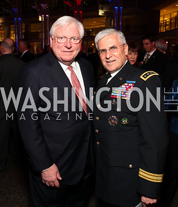 Former Texas Governor Mark White and General George Casey. Photo by Tony Powell. 6th Annual Armed Forces Foundation Gala. Ronald Reagan Building. March 3, 2010