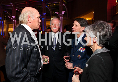 Terry Bradshaw, Harry Rhoads II, Major General Darrell and wife Holly Jones. Photo by Tony Powell. 6th Annual Armed Forces Foundation Gala. Ronald Reagan Building. March 3, 2010