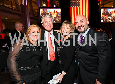 Laurie Lankford, Jimmy Johnson, Sherrye Shupp, Jay Glazer. Photo by Tony Powell. 6th Annual Armed Forces Foundation Gala. Ronald Reagan Building. March 3, 2010