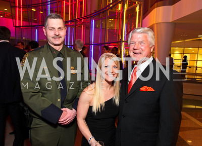 Border Patrol Chief Mike Fisher, Patricia Driscoll, and Fox NFL Sunday Co-Host Jimmy Johnson. Photo by Tony Powell. 6th Annual Armed Forces Foundation Gala. Ronald Reagan Building. March 3, 2010
