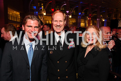 NASCAR driver Clint Bowyer, Admiral Mike and wife Barbara Miller. Photo by Tony Powell. 6th Annual Armed Forces Foundation Gala. Ronald Reagan Building. March 3, 2010