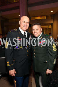 Command Sergeant Majors Dennis Carey and Rudy DelValle. Photo by Tony Powell. 6th Annual Armed Forces Foundation Gala. Ronald Reagan Building. March 3, 2010