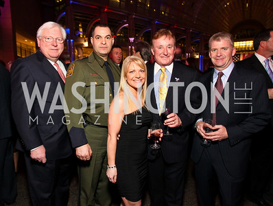 Fmr. Gov. Mark White, Border Patrol Chief Mike Fisher, Patricia Driscoll, Richard Childress, NASCAR driver Jeff Burton. Photo by Tony Powell. 6th Annual Armed Forces Foundation Gala. Ronald Reagan Building. March 3, 2010