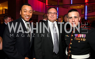 Marshall Williams, Emil Kovalchik, and Corporal Jeremy Stengel. Photo by Tony Powell. 6th Annual Armed Forces Foundation Gala. Ronald Reagan Building. March 3, 2010