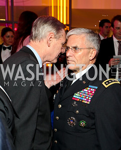 Rep. Dennis Moore with General George Casey. Photo by Tony Powell. 6th Annual Armed Forces Foundation Gala. Ronald Reagan Building. March 3, 2010