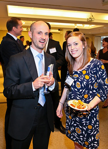 Photo by Tony Powell. Arthur Brooks Book Party. AEI Headquarters. June 9, 2010. John Cusey, Sarah Smith
