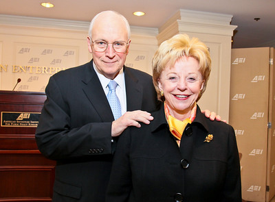 Photo by Tony Powell. Arthur Brooks Book Party. AEI Headquarters. June 9, 2010. Dick and Lynne Cheney