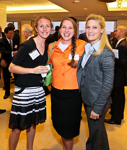 Photo by Tony Powell. Arthur Brooks Book Party. AEI Headquarters. June 9, 2010. Erin Hoekstra, Nicole Gustafson, Katherine Haley