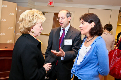 Photo by Tony Powell. Arthur Brooks Book Party. AEI Headquarters. June 9, 2010. Lynne Cheney, Jay and Lyric Winik