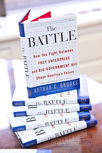 Photo by Tony Powell. Arthur Brooks Book Party. AEI Headquarters. June 9, 2010. The Battle
