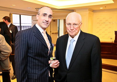 Photo by Tony Powell. Arthur Brooks Book Party. AEI Headquarters. June 9, 2010. Arthur Brooks, Dick Cheney