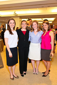 Photo by Tony Powell. Arthur Brooks Book Party. AEI Headquarters. June 9, 2010. Maretta Young, Lauren Kimaid, Sara Huneke, Ellett George