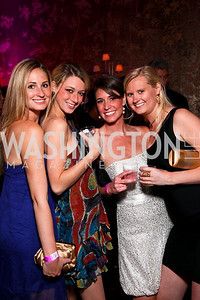 Allison Goodheart, Meredith Griffanti, Kara Verducci, Adair Hendrickson. Photo by Tony Powell. Bachelors and Spinsters Ball. City Tavern Club. April 17, 2010