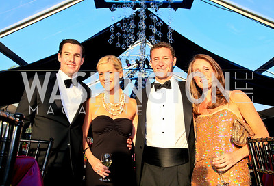 Brady Nolan, Kara O'Connell, Ben Pfinsgraff, Katie McVeigh. Photo by Tony Powell. Ball on the Mall. May 8, 2010