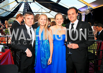 Rick Schroder, Alexa Chopivsky, Clara and George Chopivsky. Photo by Tony Powell. Ball on the Mall. May 8, 2010