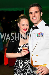 Kara Smedley, Lt. Stephen Picard. Photo by Tony Powell. Ball on the Mall. May 8, 2010