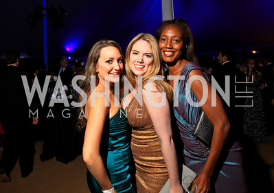 Sara Lange, Catherine Eisenmann, Jennifer Streaks. Photo by Tony Powell. Ball on the Mall. May 8, 2010