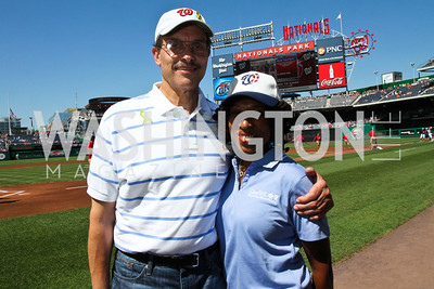 D.C. Council Chairman Vince Gray. Photo by Alfredo Flores. Becky's Fund Domestic Violence Awareness Day at Nationals Park