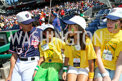 Mimi Costich, Kaitlyn O'Connor. Photo by Alfredo Flores. Becky's Fund Domestic Violence Awareness Day at Nationals Park