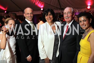 Elizabeth Asher, Ken Frankel, Ambassador Cecilia Valdivieso of Peru, Harry Rauner, Lizzie Asher