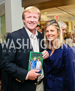 Photo by Tony Powell. Ben & Quinn Bradlee book party. The Washington Post Offices. June 7, 2010. Angus and Sissy Yates