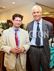 Photo by Tony Powell. Ben & Quinn Bradlee book party. The Washington Post Offices. June 7, 2010. Dan Klaidman, Bo Jones