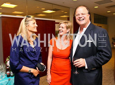 Photo by Tony Powell. Ben & Quinn Bradlee book party. The Washington Post Offices. June 7, 2010. Sissy Yates, Katharine Weymouth, Mit Spears