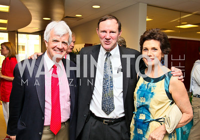 Photo by Tony Powell. Ben & Quinn Bradlee book party. The Washington Post Offices. June 7, 2010. Al Hunt, Don Graham, Maureen Orth