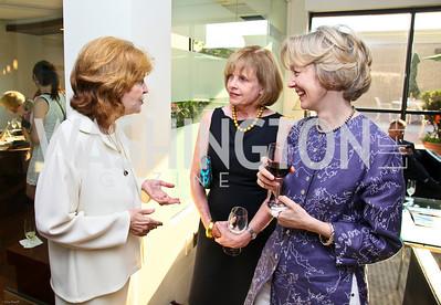 Photo by Tony Powell. Ben & Quinn Bradlee book party. The Washington Post Offices. June 7, 2010. Kate Lehrer, Bebe Jones, Marguerite Lloyd