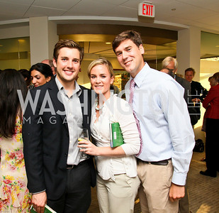 Photo by Tony Powell. Ben & Quinn Bradlee book party. The Washington Post Offices. June 7, 2010. Brady Hiatt, Elizabeth Tenety, Colin Galle
