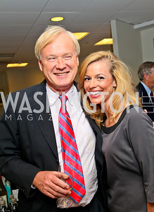 Photo by Tony Powell. Ben & Quinn Bradlee book party. The Washington Post Offices. June 7, 2010. Chris Matthews, Pamela Brown